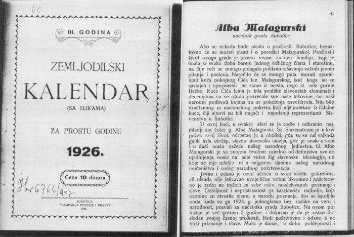 41 Zemljodilski 1926
